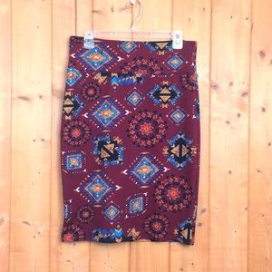 Like New LuLaRoe Aztec Print Cassie Pencil Skirt